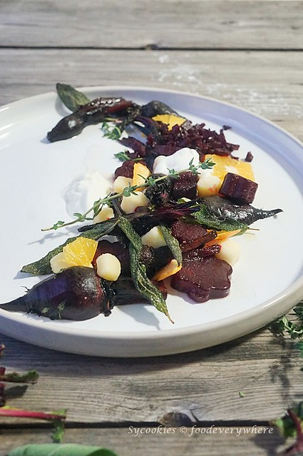 1.Citrus beet salad with truffle oil - D'Ark's Roasted Beetroot Salad inspired, with Panasonic Electric Oven