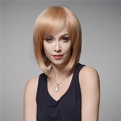 Elegant Human Hair Wig Side Bang Wave Virgin Remy Mono Top Capless 32cm (1067826) #Banggood