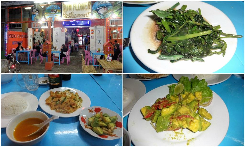 Sun Flower Restaurant in Nyaung Shwe, Birma