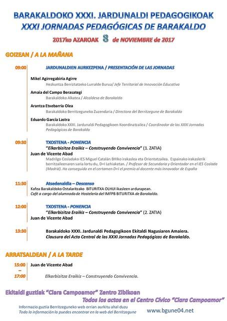 XXXI Jornadas Pedagógicas de Barakaldo