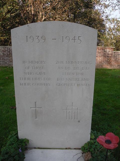 Bi-lingual WWII Memorial Stone, West Thorney Church