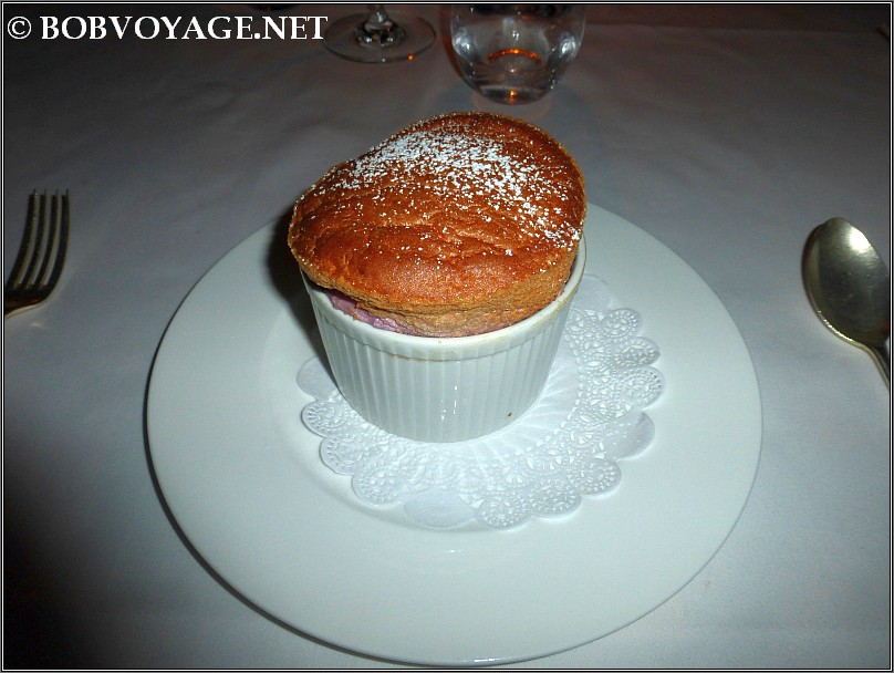 A Raspberry Souffle at The French Horn