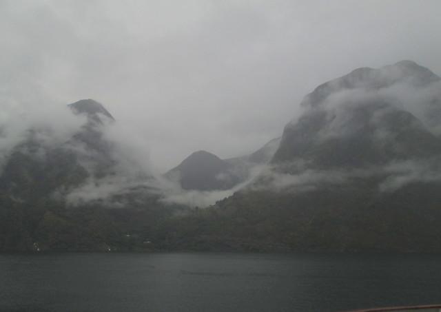 Mist on Aurlandsfjord, Norway