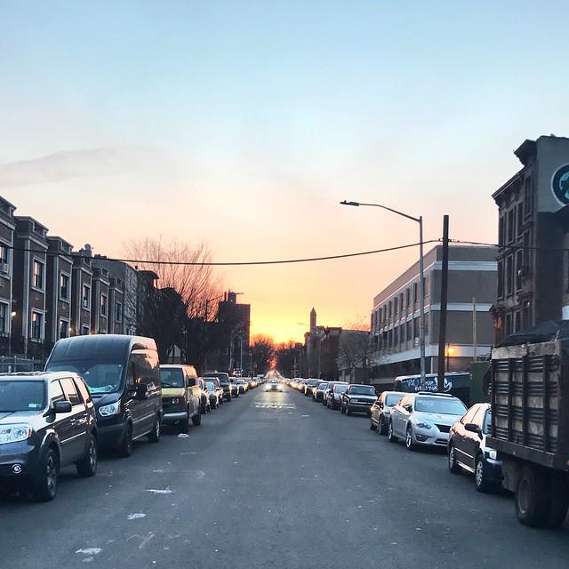 #newyork #perspective #sunset #brooklyn