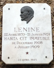 Photo of Vladimir Lenin marble plaque