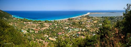 lefkada island greece view panorama agioannis lagoon faneromenis monastery sea blue alexring nikon d750