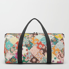 sarilmak patchwork society6 duffle bag