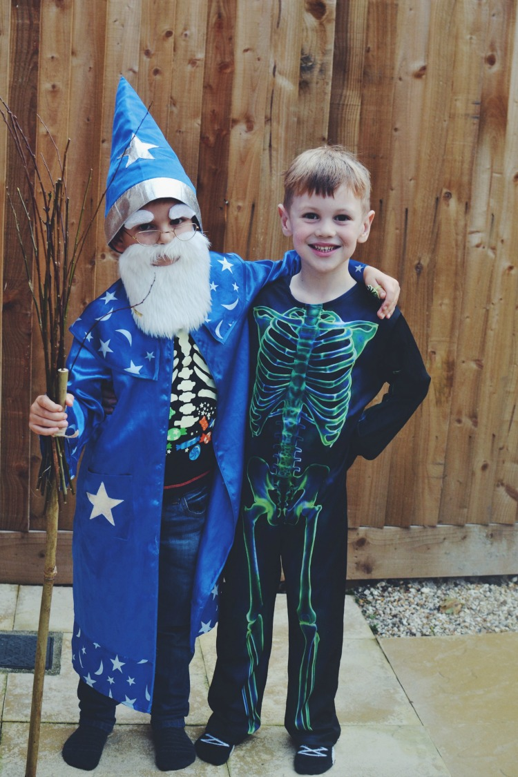 wizard and skeleton