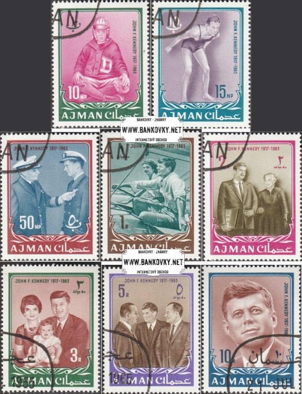 Známky Ajman 1965 Prezident John Kennedy, razítkovaná séria