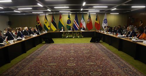 Reunião de ministros de saúde da CPLP. Brasília, 26/10/2017.