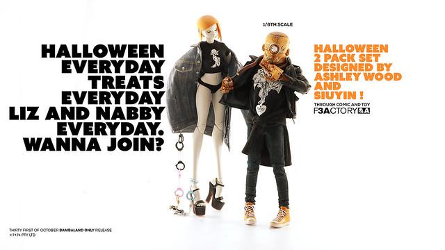 萬聖節限定!!threeA【LIZ & NABLER GUY 雙人套組】Halloween 2 Pack Set 1/6 比例人偶作品