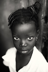 Ghana, young girl in Winneba
