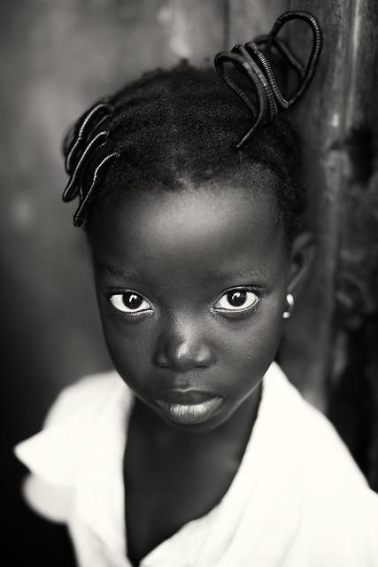 Ghana, young girl in Winneba