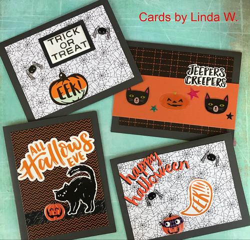Halloween cards set 2