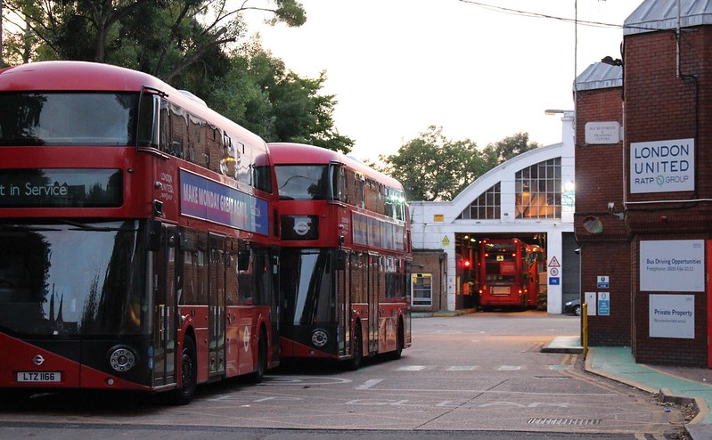 Stamford Brook bus garage, London