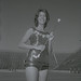 Female Baton Twirler in MSU Marching Band, 1972