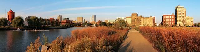 Evening at Reed Street Yards (Panorama)