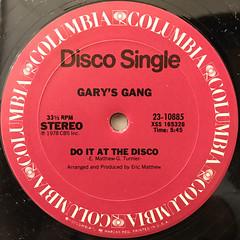 GARY'S GANG:KEEP ON DANCIN'(LABEL SIDE-B)