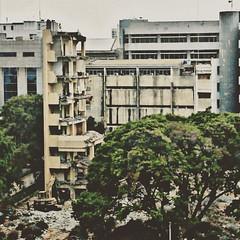 Itu aku saat kau pergi.  Separuh bagian ku masih berusaha untuk tetap berdiri, saat sebagian lain nya sudah porak-poranda. #structure #demolitionbuilding #building