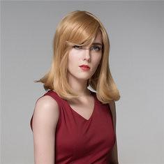 Human Hair Wig Medium Long Straight Elegant Side Bang Virgin Remy 8 Colors to Choose Mono Top (1072175) #Banggood