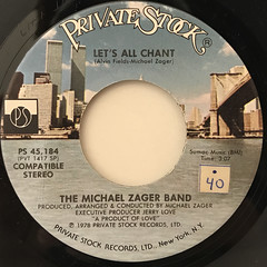THE MICHAEL ZAGER BAND:LET'S ALL CHANT(LABEL SIDE-A)