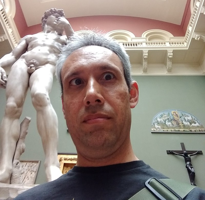 A close encounter with Michaelangelo's David (replica), V&A Museum, London