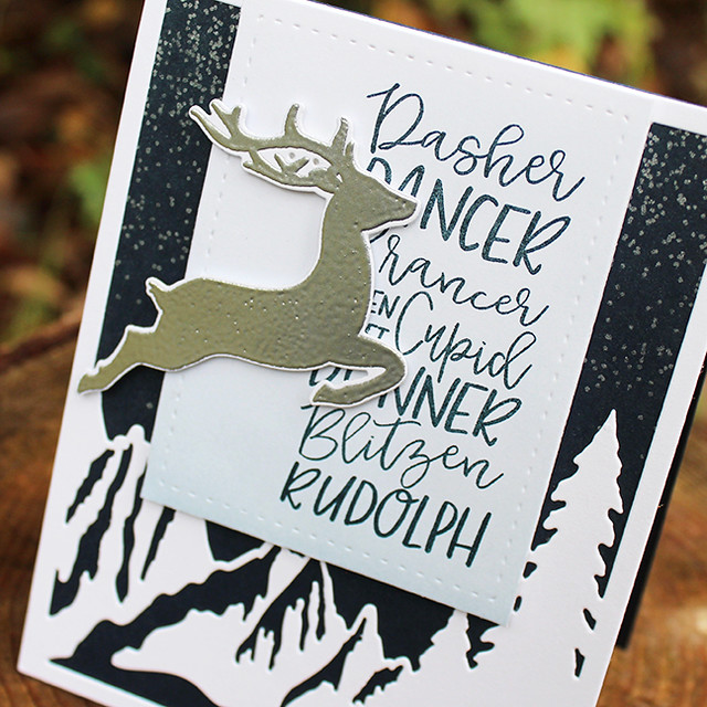 Silver Reindeer Card 3