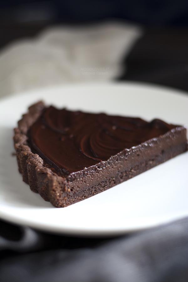 Crostata al cacao con nocciole e caffè
