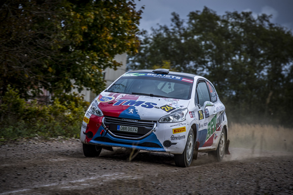 26 Brož Dominik and Těšínský Petr, ACCR Czech Team, Peugeot 208 R2 ERC Junior U27 action during the 2017 European Rally Championship ERC Liepaja rally,  from october 6 to 8, at Liepaja, Lettonie - Photo Gregory Lenormand / DPPI