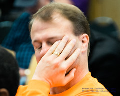 Tim Eyman's Face In His Hand