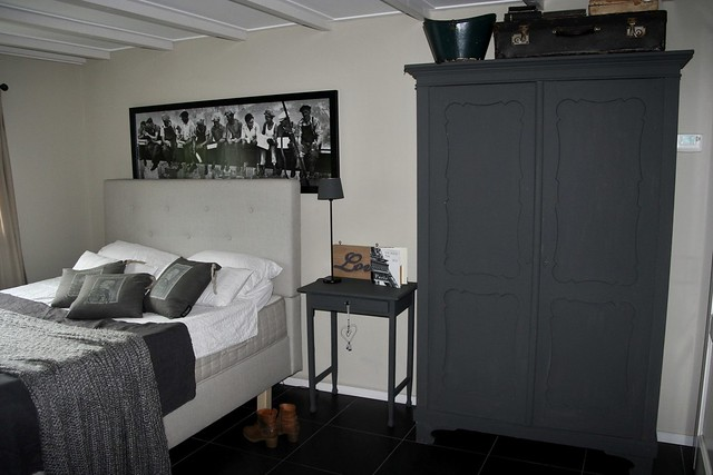 Slaapkamer zwartwit
