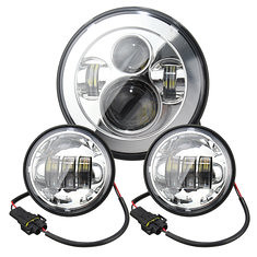 7inch Motorcycle LED Projector Headlight Pair 4.5inch Passing Lights For Harley (1133444) #Banggood