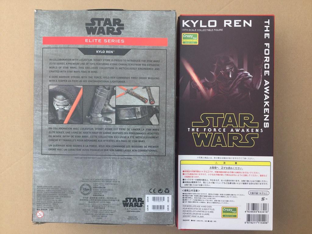 osw.zone Product Review Comparison: Crazy Toys Kylo Ren vs Disney Store Elite Premium Kylo Ren
