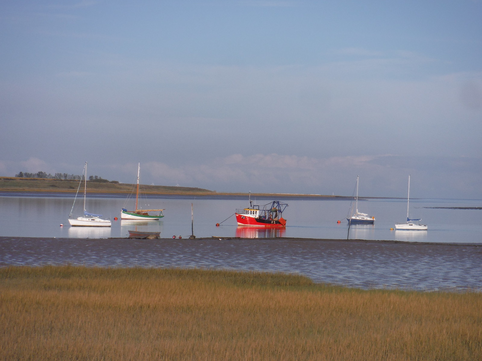 Boats and Isle of Harty SWC Walk 299 - Teynham to Faversham