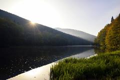 Premier rayon sur l'étang du Fleckenstein