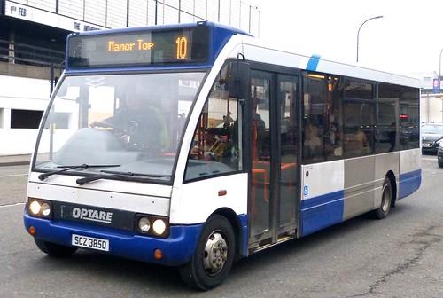 SCZ 3850 'Sheffield Community Transport' Optare Solo M850 on 'Dennis Basford's railsroadsrunways.blogspot.co.uk'