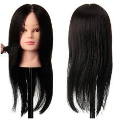 100% Black Practice Mannequin Real Human Hair Training Head Hairdressing Cutting Clamp Holder (1045675) #Banggood