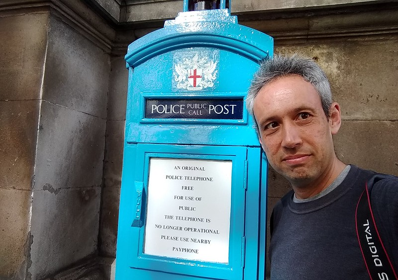 Police Post at Mansion House, London