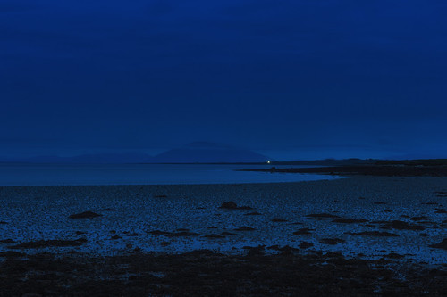 Lonely light in blue