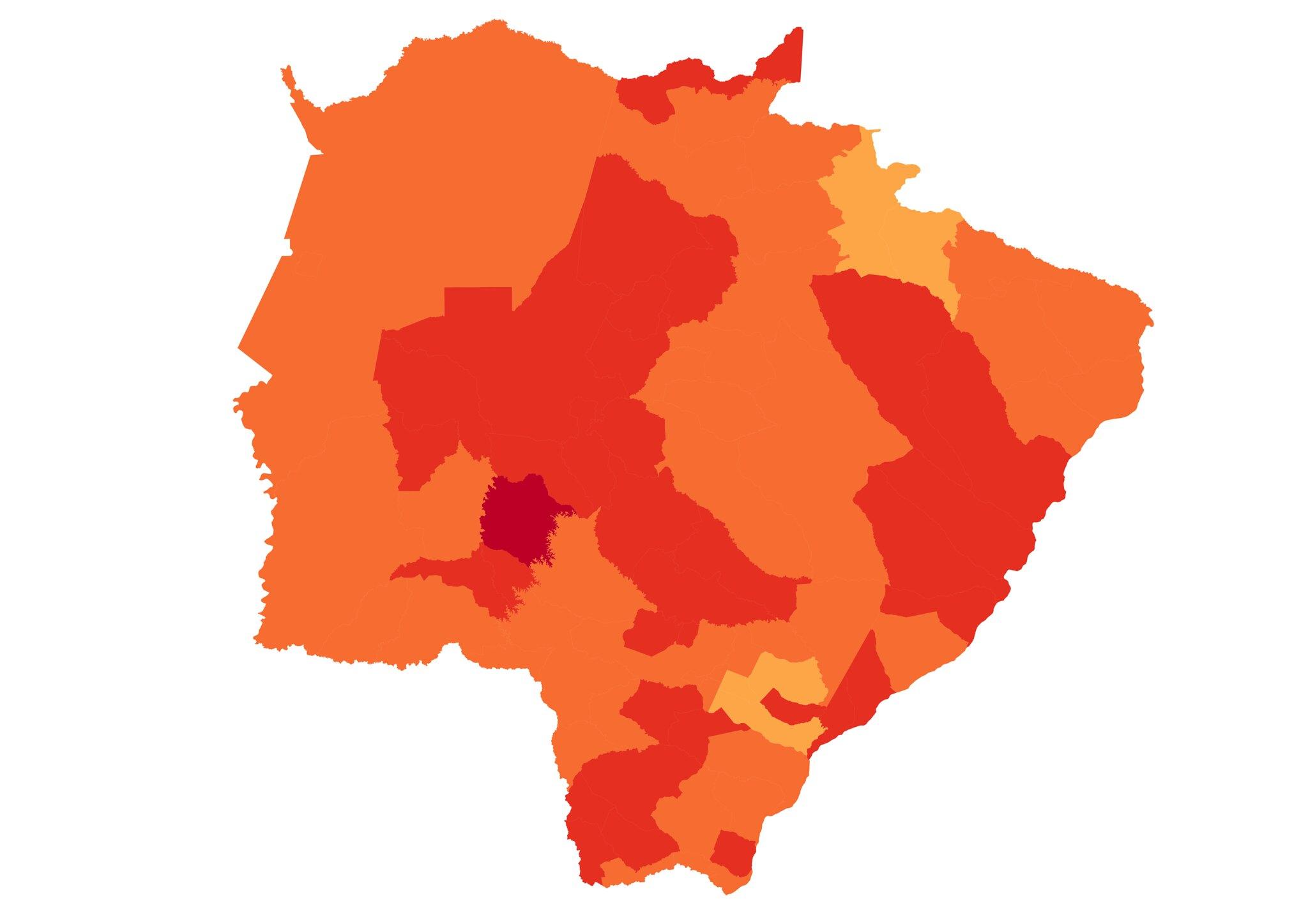 Ferramenta mapeia municípios do Mato Grosso do Sul vulneráveis à mudança do clima