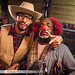 Rancher and Clown on Halloween at Tony's Tavern in Athens Ohio