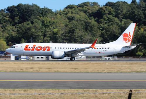 Boeing 737 MAX 9 Lion Air N739EX LN6308