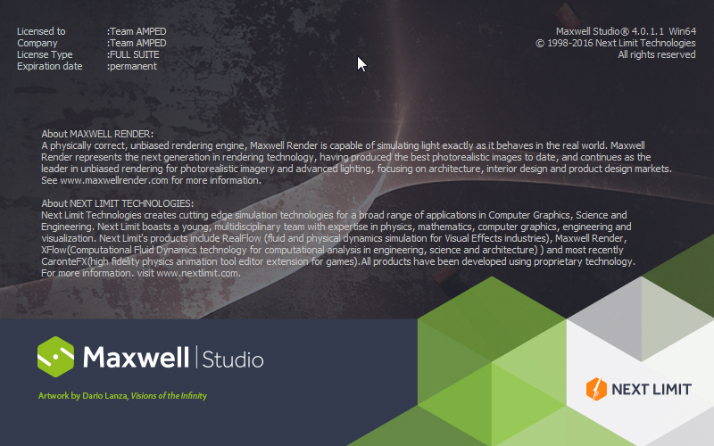 Next Limit Maxwell Render 4 0.1.1 64bit full license