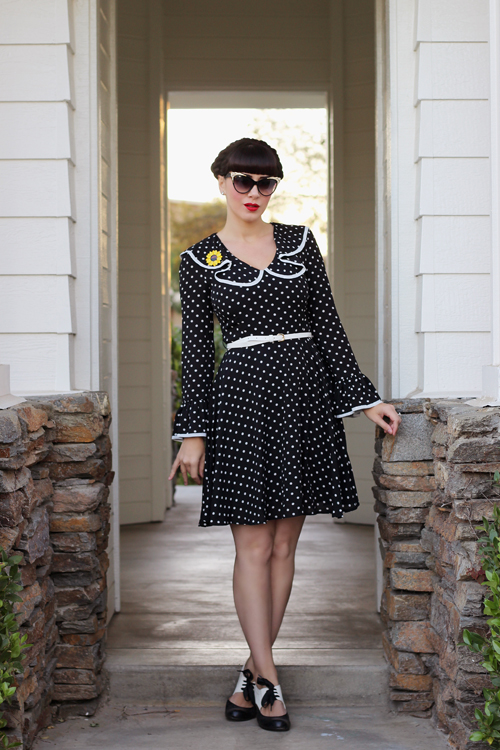 Joanie Clothing Penny Polka Dot Frill Dress