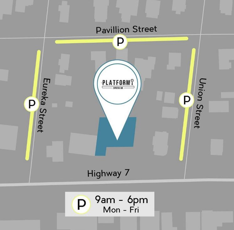 Platform Espresso Bar street parking areas