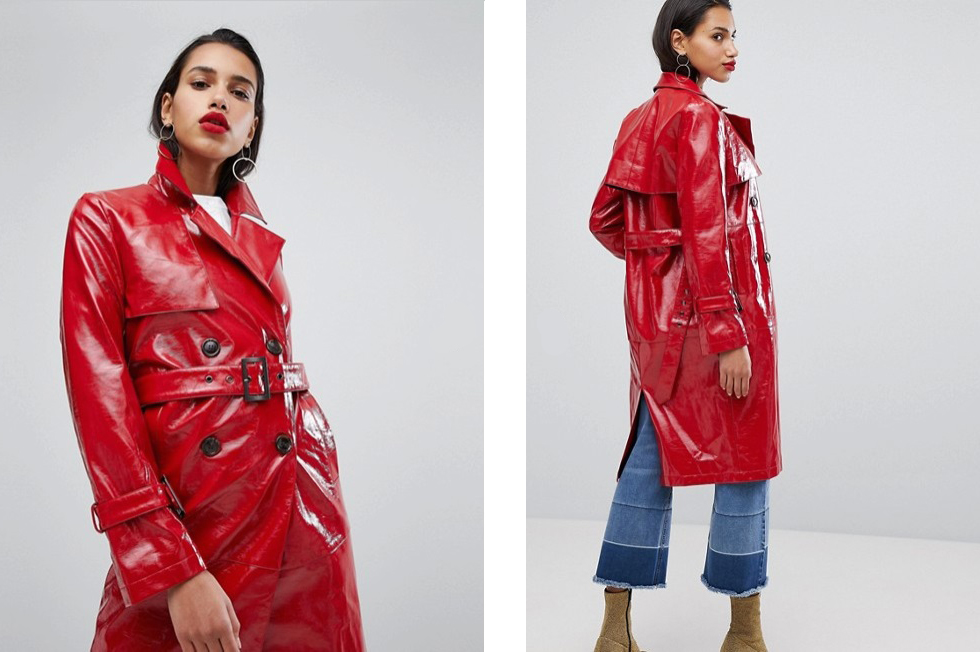 trench-coat-vinyl-red-color-trend-fashion-fall