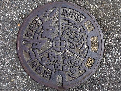Funahashi-Kamiichi-Tateyama Toyama, manhole cover 3 (富山県上市町舟橋村立山町のマンホール3)