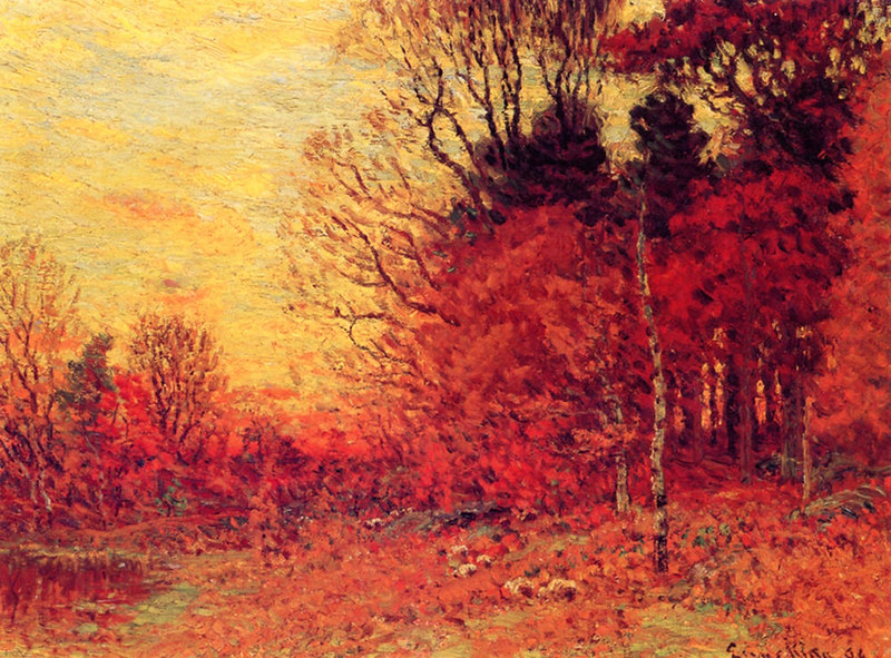 New England Autumn Landscape by John Joseph Enneking, 1894