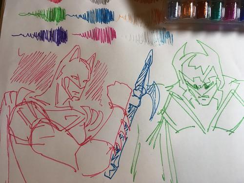 Nove Glitter Gel pens sample doodles