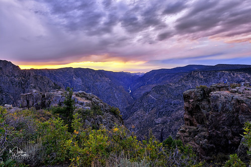 markwhitt markwhittphotography colorado blackcanyon blackcanyonofthegunnisonnationalpark nationalpark usnationalpark usa canyon clouds sunset roadtrip travel adventure scenic scenery outdoors view viewpoint sunsetview